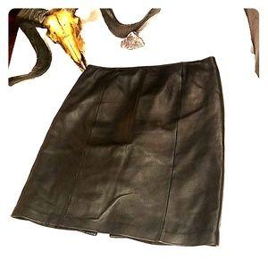 Croft & Barrow Lambskin Leather Skirt 12